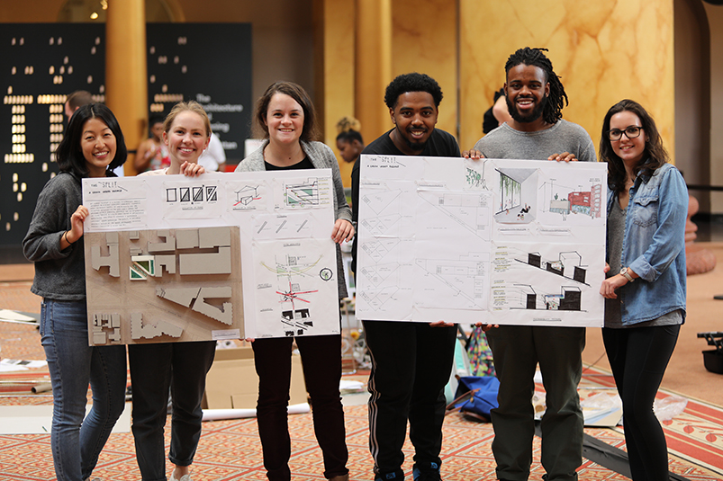 students display designs